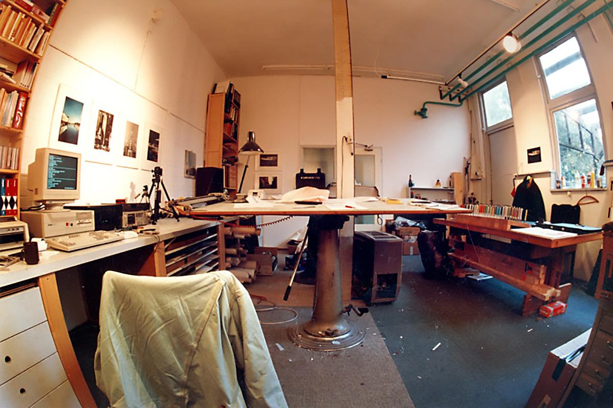 Het atelier in 1990